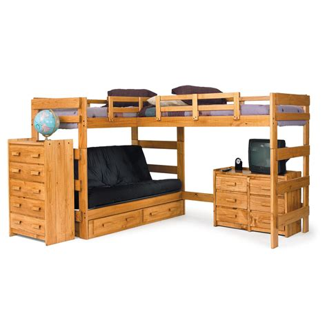 l shape bunk bed chelsea home l shaped bunk bed customizable bedroom set