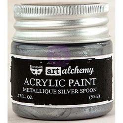 acrylic paint mixing silver finnabair alchemy acrylic paint metallique silver