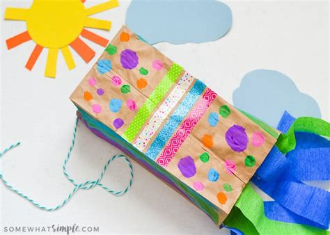 paper bag kite craft paper bag kites a craft for somewhat simple