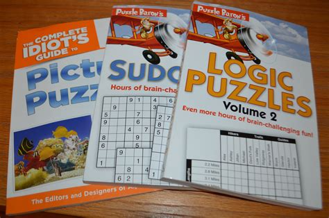 puzzle books picture puzzles sudoku and logic puzzles book review