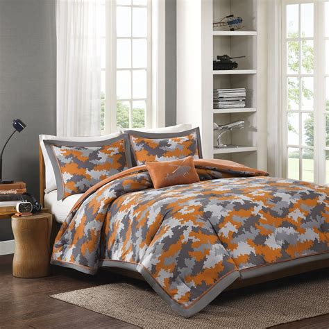 gray and orange comforter set orange and grey bedding sets with more ease bedding with