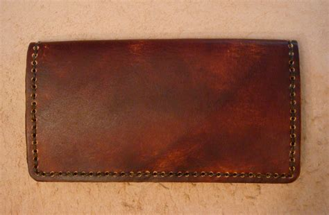 leather checkbook covers for handmade brown leather checkbook cover leather wallet