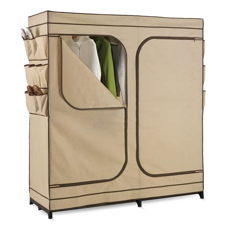 portable closets with doors creativeworks home decor wardrobe armoire
