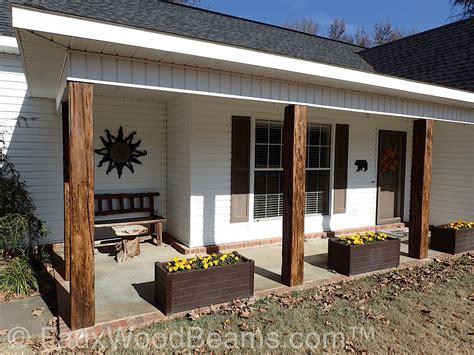 post decorating porch post ideas faux wood workshop
