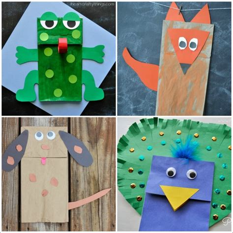 animal paper crafts 20 paper bag animal crafts for i crafty things