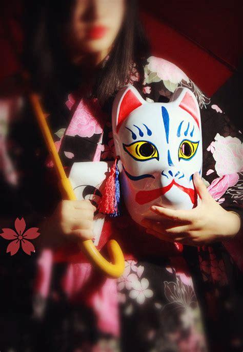 wajah karnaval kualitas tinggi jepang fox promotion shop for high quality