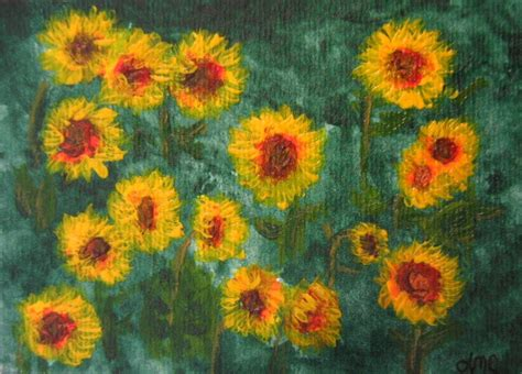 acrylic painting reproduction sunflowers landscape acrylic painting reproduction 4 5 by
