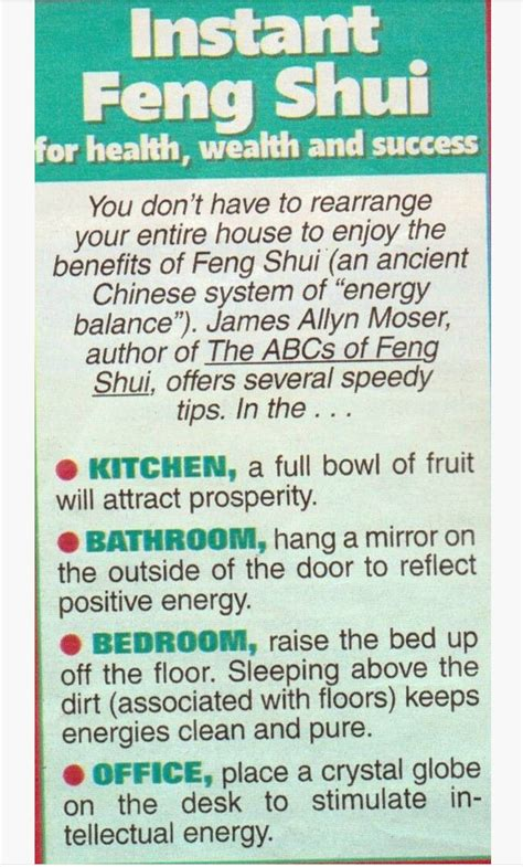 feng shui for health instant feng shui for health wealth success exploring