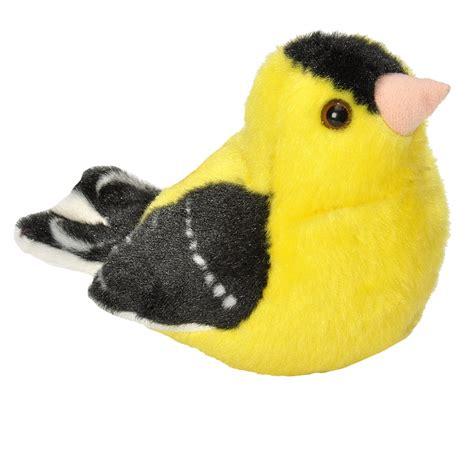 bird stuffed animals american goldfinch audubon stuffed animal with bird song