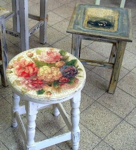 decoupage stool try your at shabby chic decoupage 21 gorgeous
