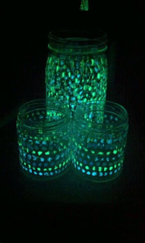 glow in the paint jars pin by birthday ideas on glow in the birthday
