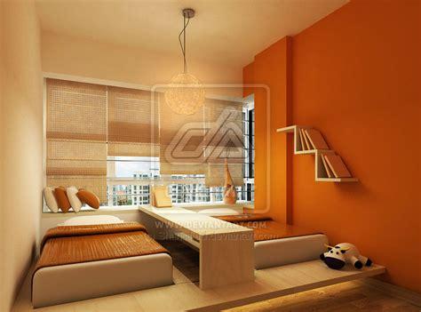 2 bedroom designs orange bedroom with two bed design interior design