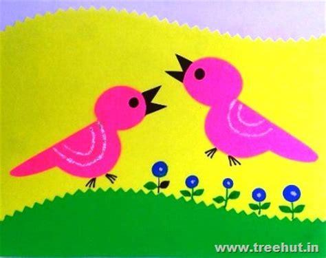 paper cutting crafts easy paper cutting birds treehut in