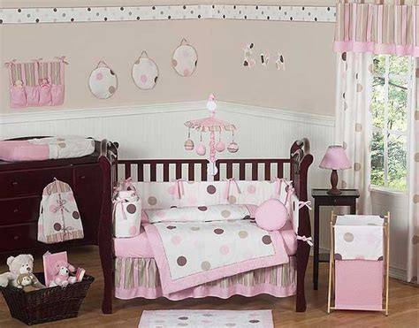 and brown crib bedding pink and brown mod dots crib bedding set by sweet jojo