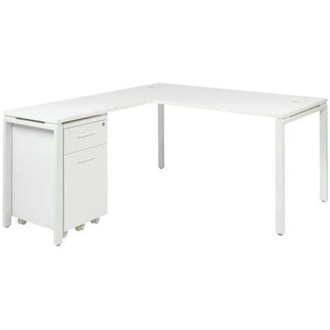 white desk l shaped office prado l shape w mobile filing cabinet white