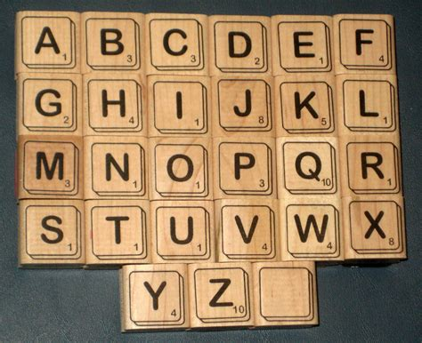 scrabble tile value sold scrabble tiles rubber sters complete set alphabet