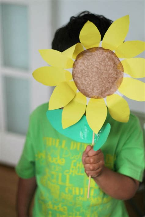 sunflower paper plate craft paper plate sunflower in the playroom