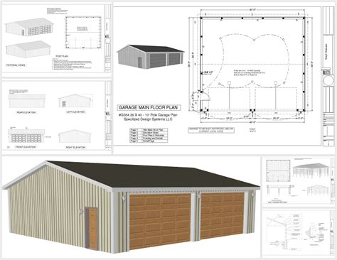 g554 36 x 40 x 10 pole barn sds plans