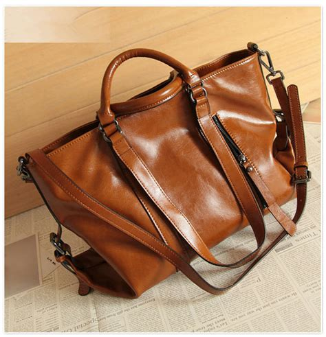 leather womens laptop bag leather bag retro brown leather tote bag shopper