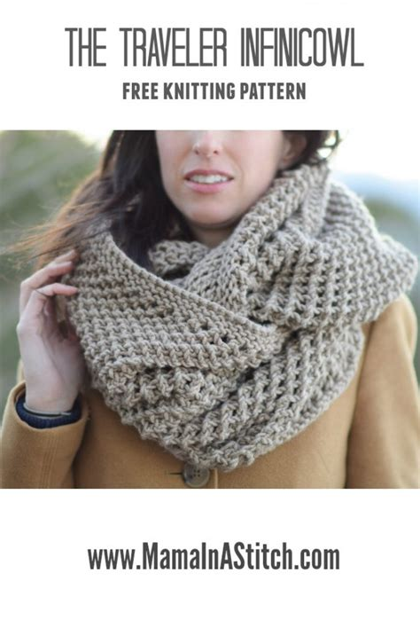 free knitting pattern for snood scarf the traveler knit infinicowl scarf pattern in a stitch