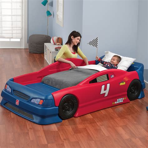 car toddler bed set stock car convertible bed bed step2
