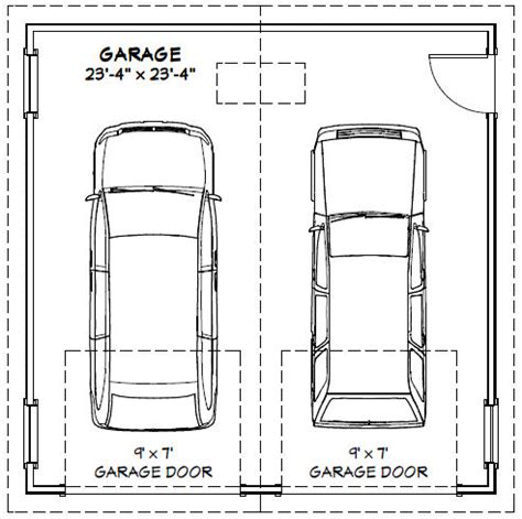 garage affordable 2 car garage dimensions design two car
