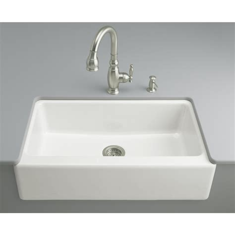 single sink kitchen shop kohler dickinson white single basin undermount
