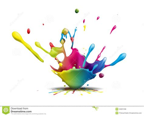 splash stock illustration image of paint inks flop