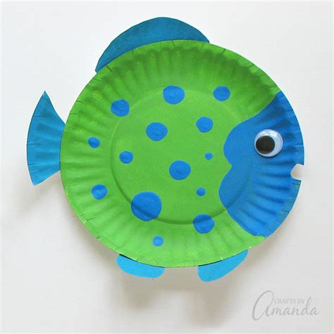 paper plate fish craft paper plate tropical fish a vibrant and paper plate
