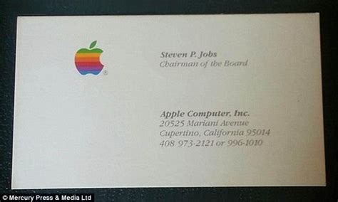 how to make business cards on a mac steve business cards from apple next and pixar