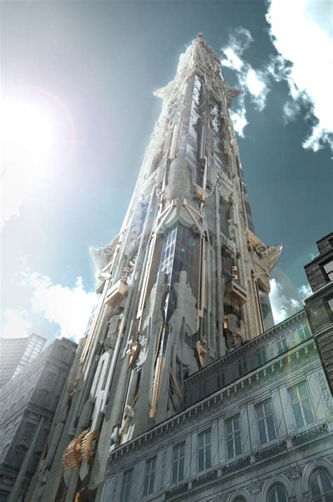 102 story residential building nyc steunk neo deco architecture most beautiful houses
