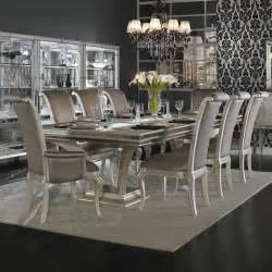 swank dining set aico pearl swank dining set 9 aico swank trestle dining table set 9