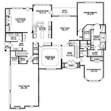 floor plans for 1 story homes 653924 1 5 story 4 bedroom 4 5 bath country