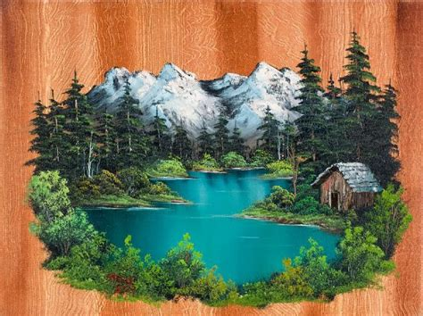 bob ross painting cabin pin by bev carlson on bob ross paintings