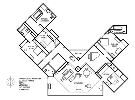 frasier floor plan frasier afficionado floor plan of frasier s condo