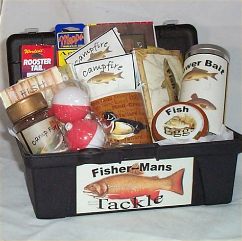 gifts for a fisherman tackle box gift basket fishing gift basket