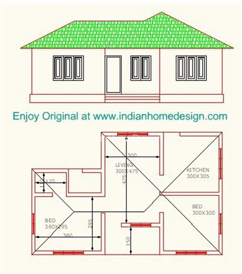 cost of house plans low cost 2 bedroom indian home plan indian home design