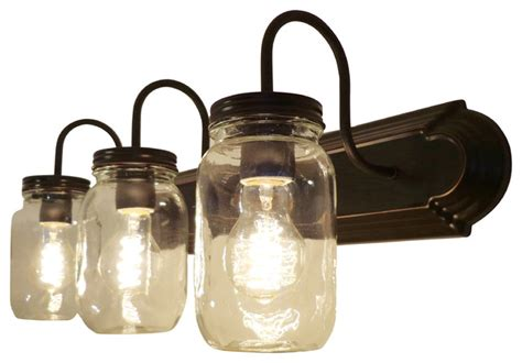 jar bathroom light clear quart jar vanity farmhouse bathroom vanity
