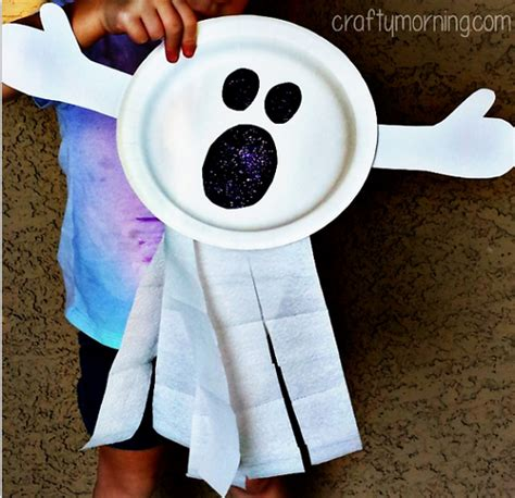 ghost craft for paper plate ghost craft for