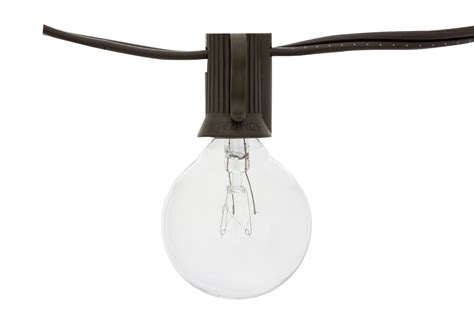 string light sockets 25 socket outdoor string light kit w g40 globe clear