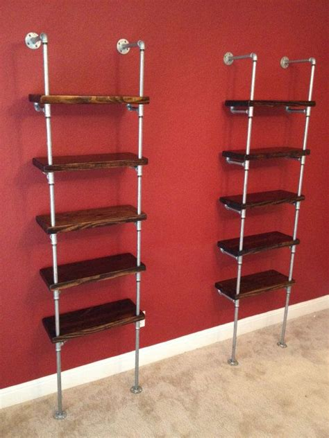 galvanized pipe bookshelves industrial pipe shelving unit furniture 48 quot wide