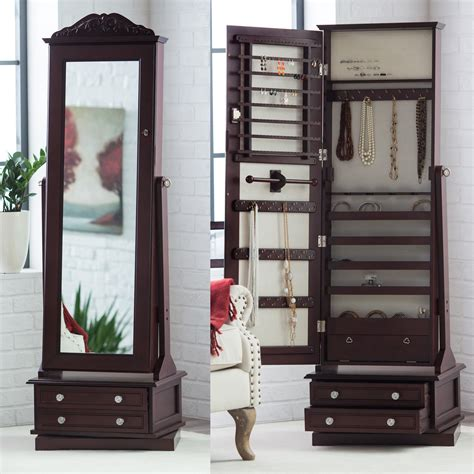 how to make a jewelry armoire belham living swivel cheval mirror jewelry armoire