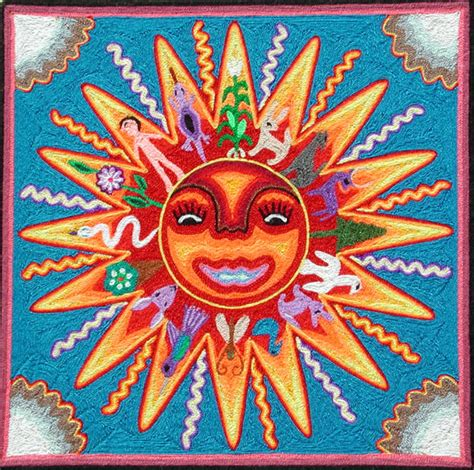huichol bead symbols symbolism mexican huichol bead yarn paintings docents