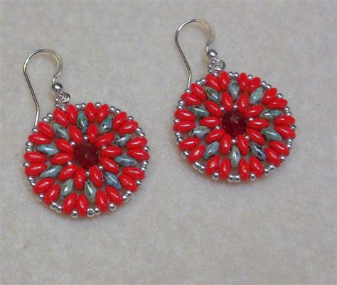 superduo bead patterns duo mandala earrings by bethel anthony craftsy