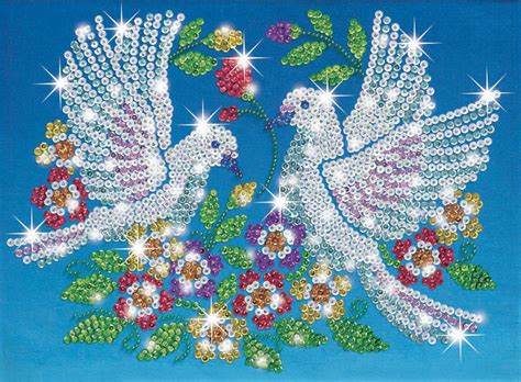 beading and sequins sequin doves craft kit 0618 ksg free postage ebay