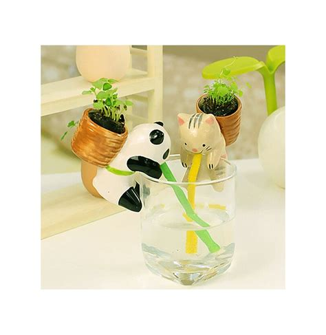 mini potted plants mini auto water absorption animal potted plants office