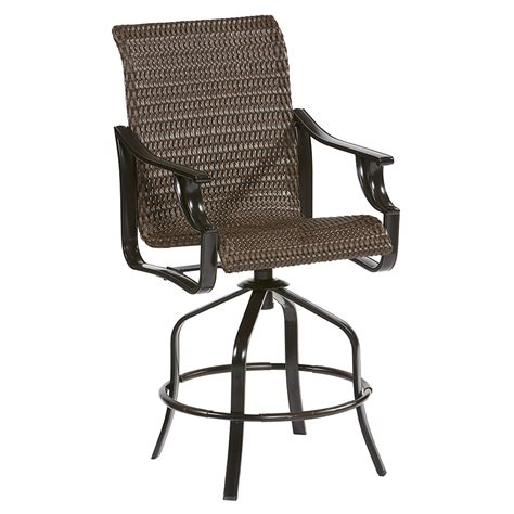 bar stool swivel chairs shop allen roth safford 2 count brown wicker swivel