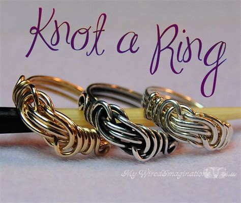 wire jewelry tutorials diy wire wrap a knot ring jewelry tutorial how to make a