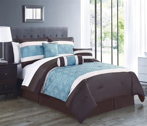 sea green bedding set 7 ibiza sea green chocolate comforter set