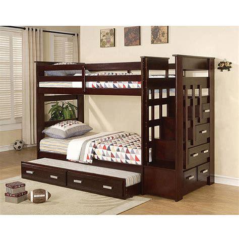 espresso bunk beds allentown bunk bed espresso walmart